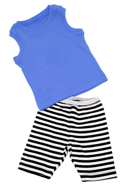 Boy's Shorts and Singlet stock photo