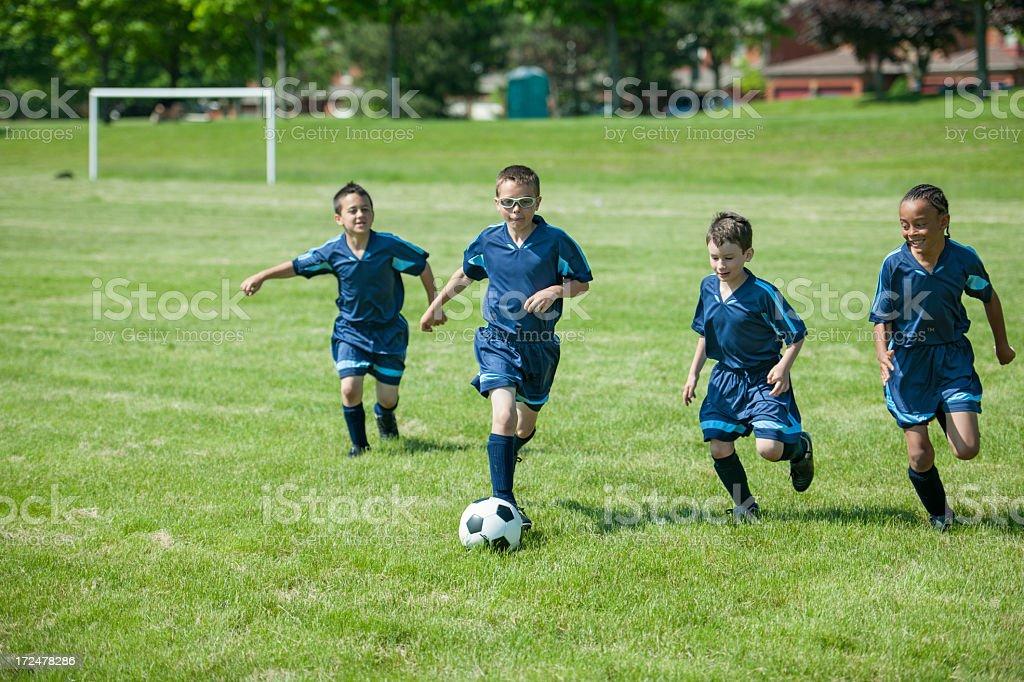 Boys Soccer Team royalty-free stock photo