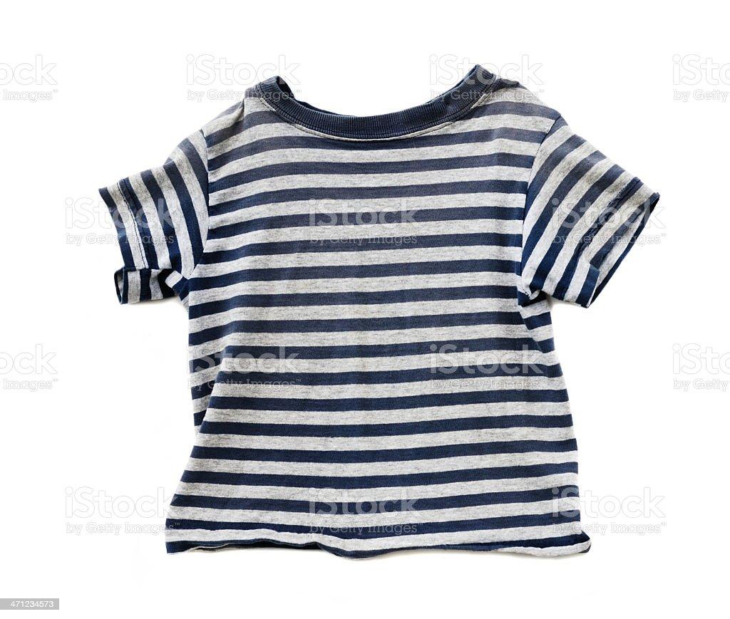 Boy's striped t-shirt on white royalty-free stock photo