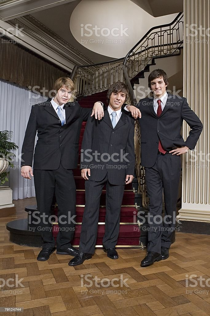 Boys wearing suits 免版稅 stock photo