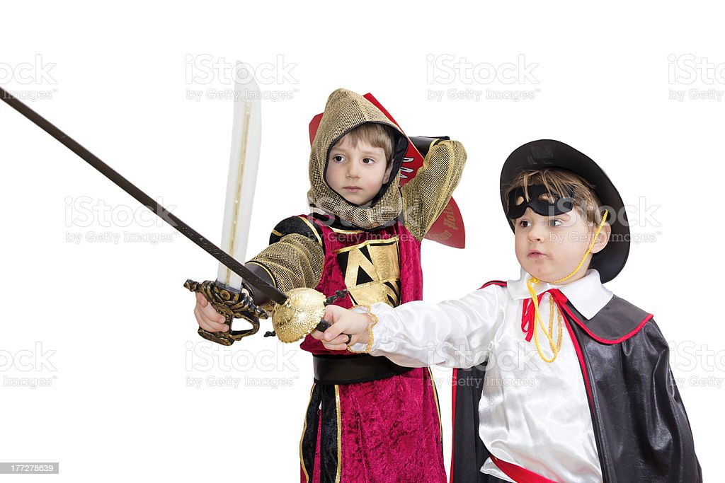 Boys with carnival costume . stock photo