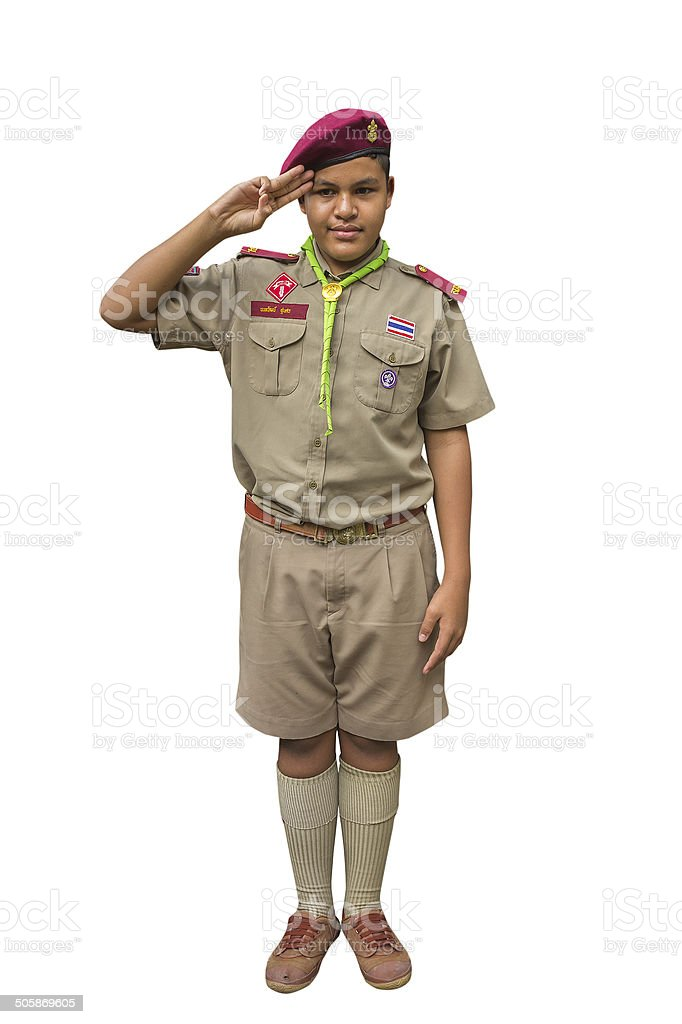 Boyscout stock photo