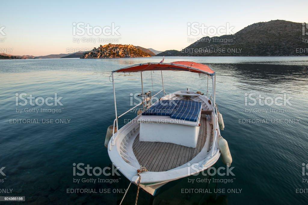 Bozburun Türkiye Güney Batı Yarımadası üzerinde stok fotoğrafı