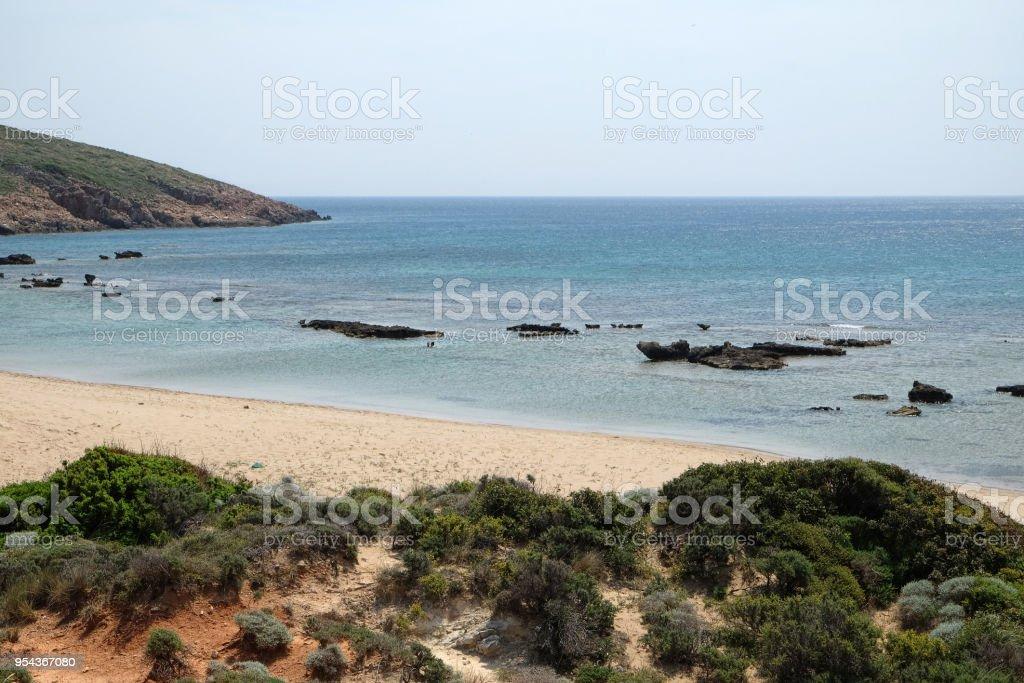 Bozcaada beaches stock photo