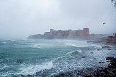 Bozcaada Castle by the sea