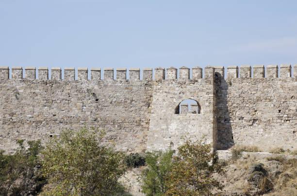 bozcaada burg, canakkale, türkei - hochmittelalter stock-fotos und bilder