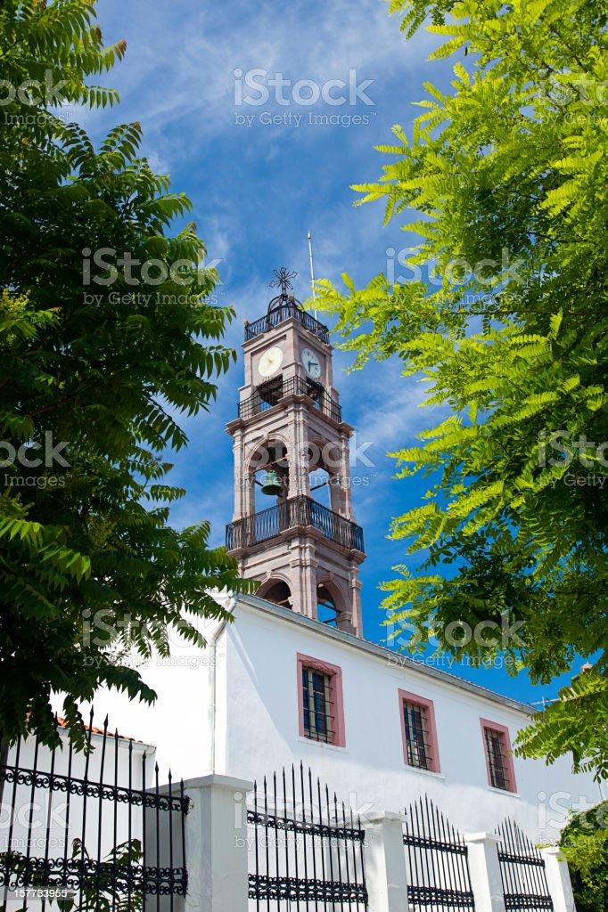 Bozcaada Clock Tower stock photo