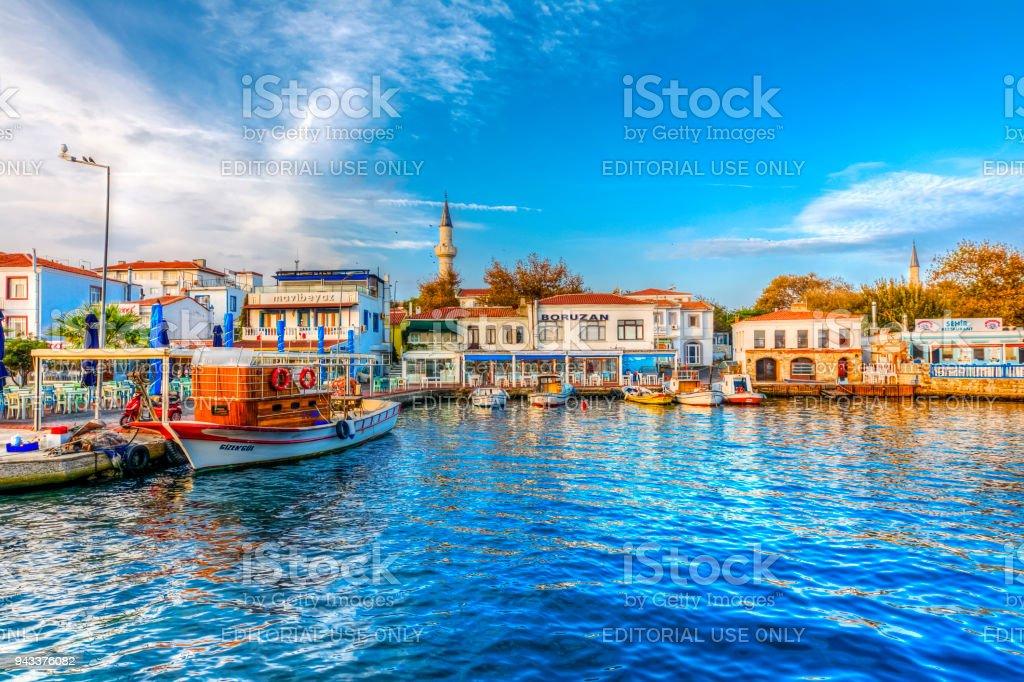 Bozcaada Island in Turkey stock photo