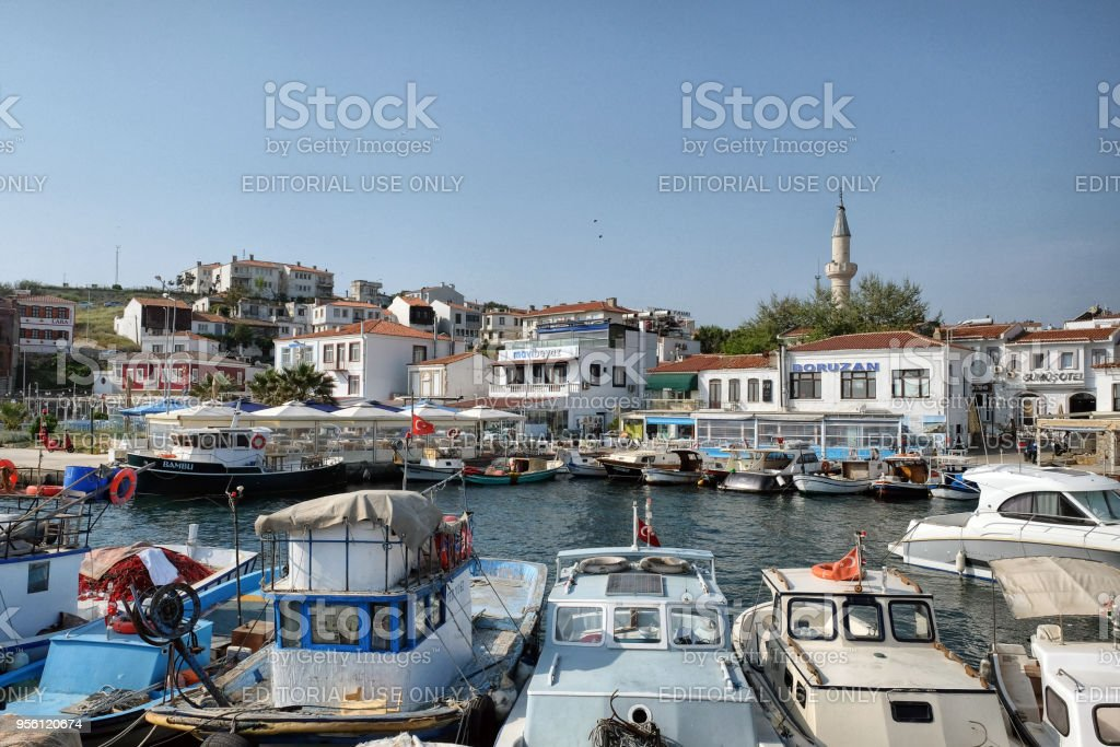 Bozcaada marina stock photo