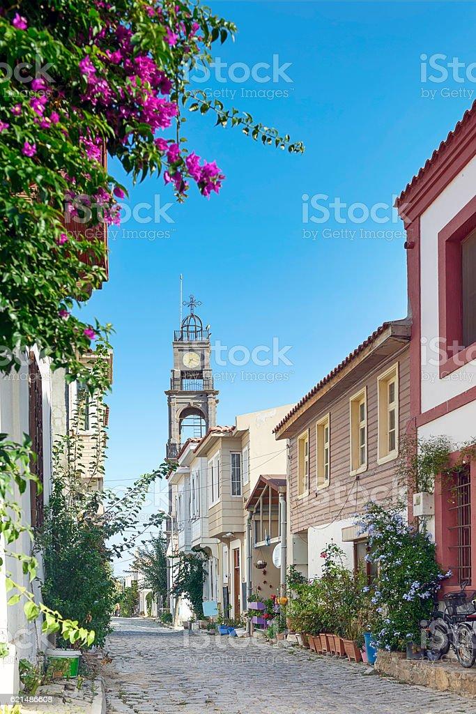 Bozcaada streets Lizenzfreies stock-foto