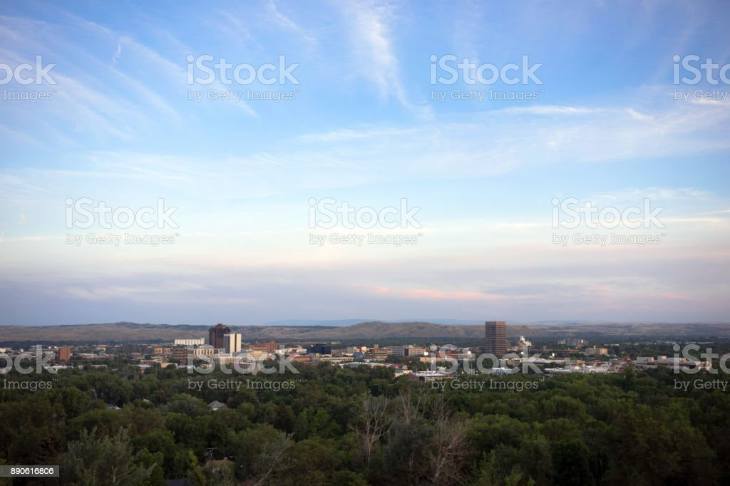 Bozeman Montana Downtown City Skyline Urban Cityscape stock photo