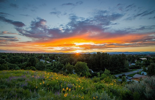 Bozeman Sunset Stock Photo - Download Image Now