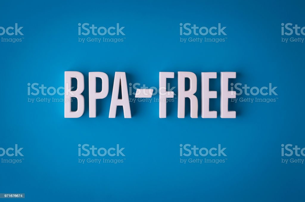 BPA-Free sign lettering stock photo