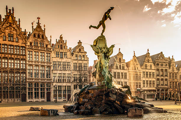 Brabo fountain in Antwerp,Belgium - Photo