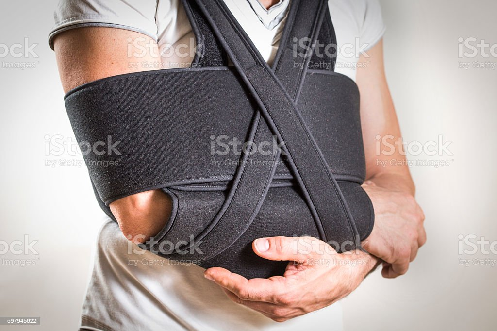 Brace for the shoulder stock photo
