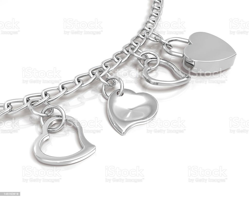 Bracelet of hearts stock photo