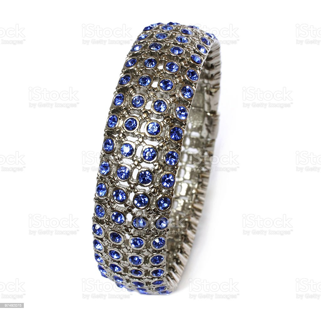 bracelet with blue crystals royalty-free stock photo