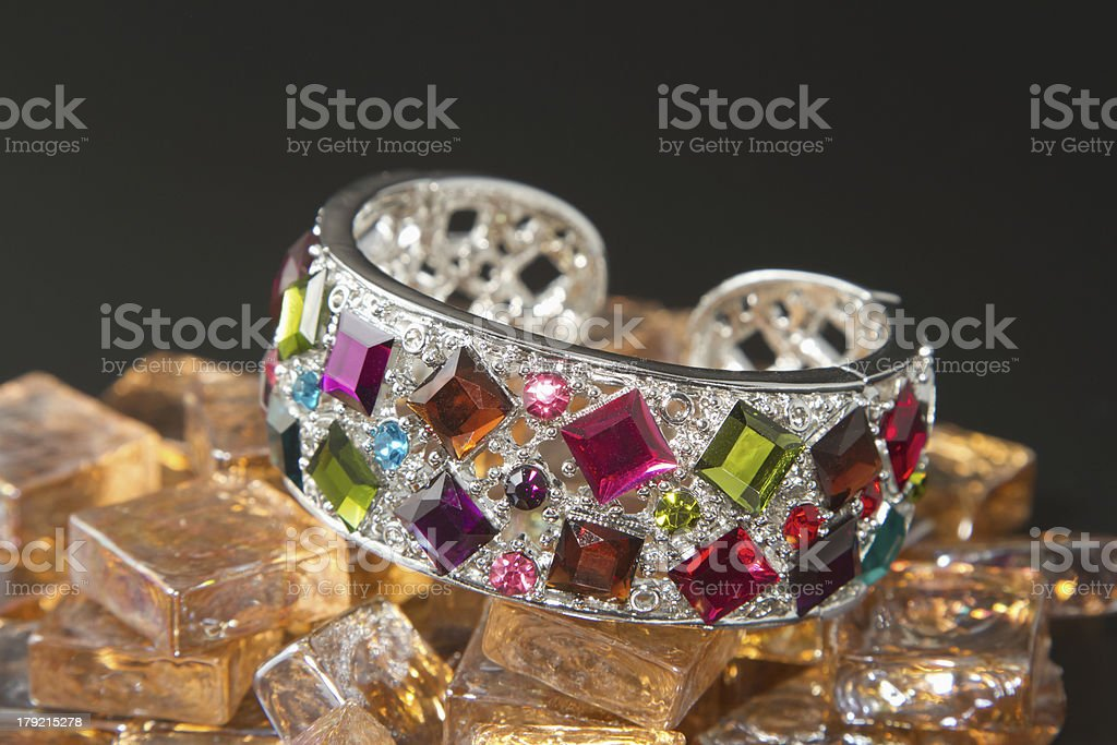 bracelet with color gems royalty-free stock photo