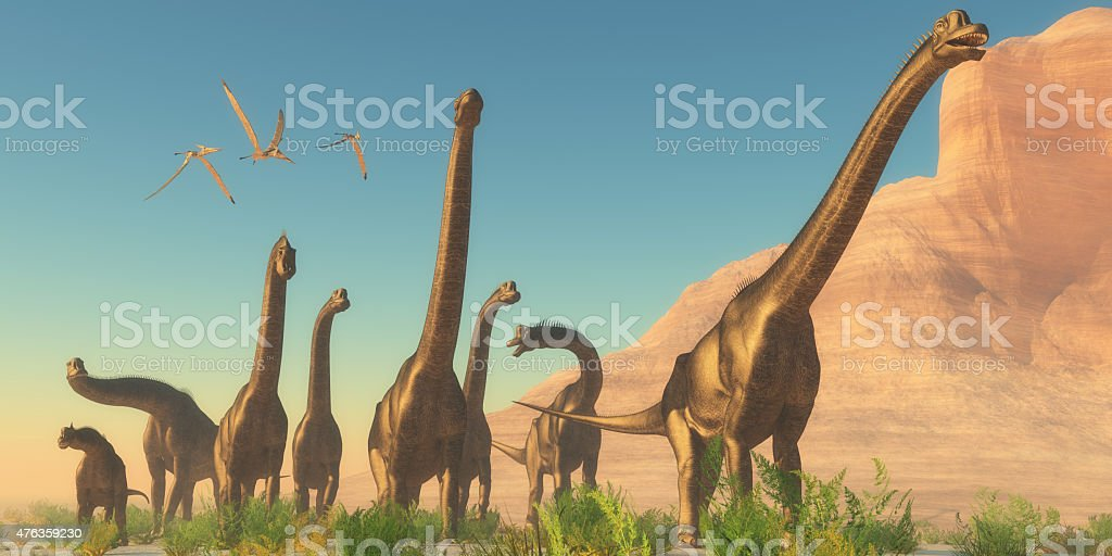 Brachiosaurus Afternoon stock photo