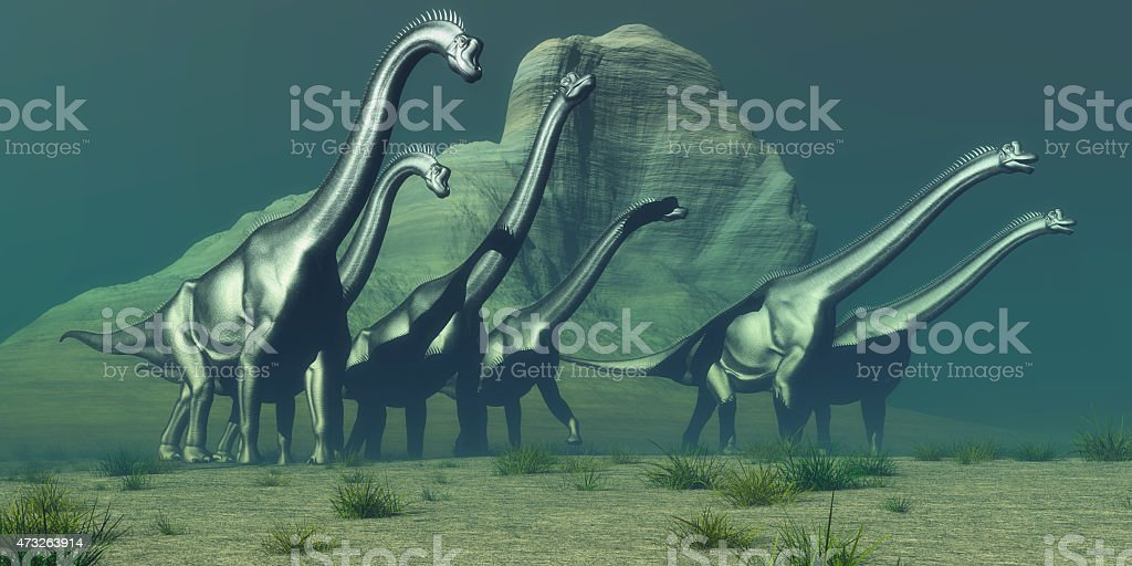 Brachiosaurus Bluff stock photo