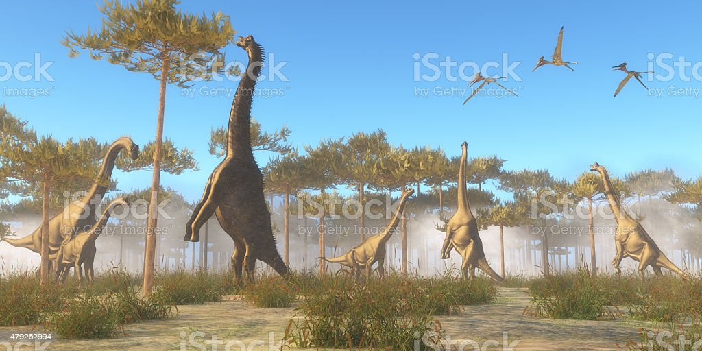 Brachiosaurus Browsing stock photo