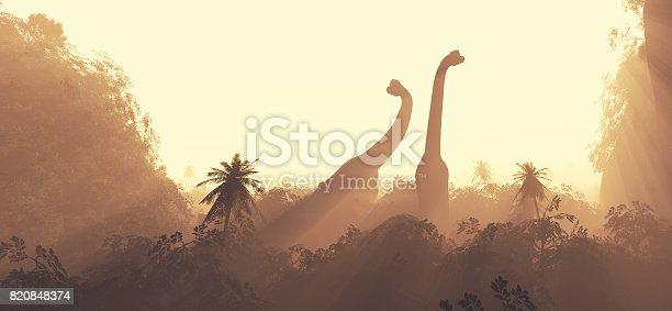 istock Brachiosaurus dinosaurs 820848374