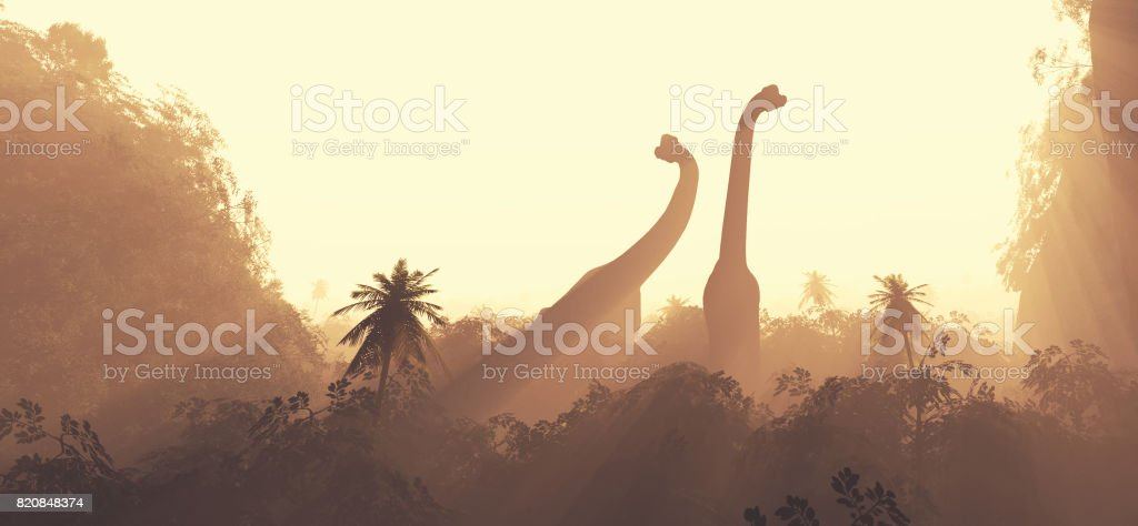 Brachiosaurus dinosaurs stock photo