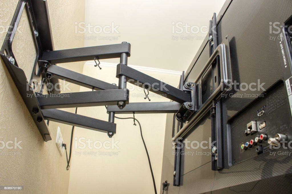 Soporte TV LED pantalla. Soporte giratorio para TV. - foto de stock