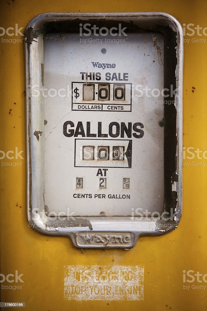 Bracknell gas pump stock photo