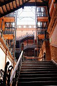 Los Angeles, CA USA August 18, 2019  The Bradbury building  is the oldest commercial building remaining in the Historic core of downtown Los Angeles