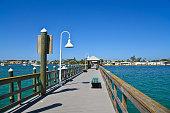 Bradenton Beach Historic Pier on Anna Maria Island, Florida