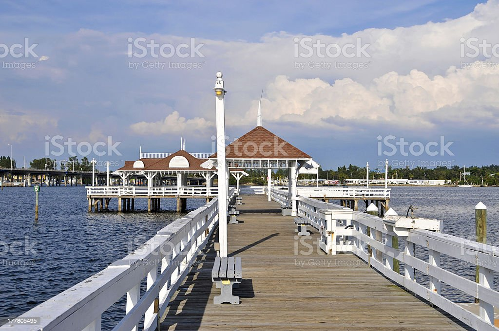 Bradenton Beach Historic Pier stock photo