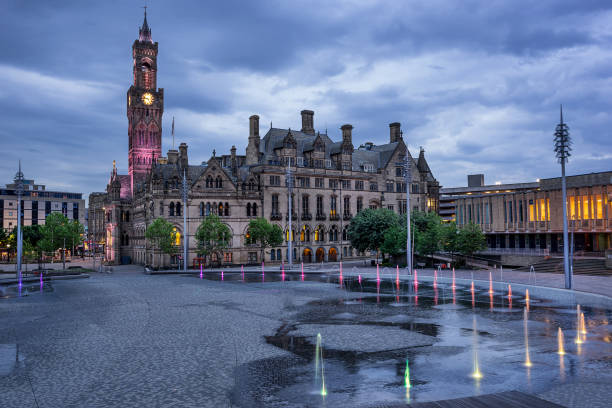 Bradford City Hall stock photo