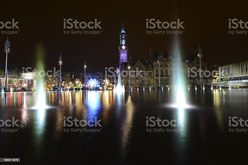 Bradford city park stock photo