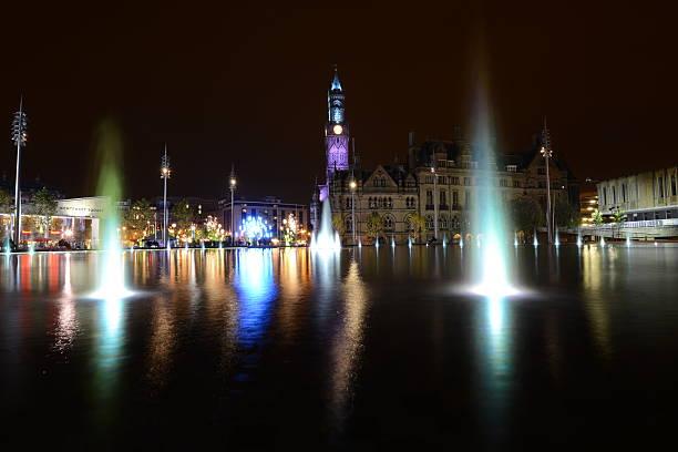 Bradford city park stock photo