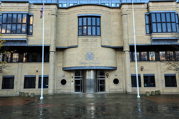Bradford Law Courts stock photo