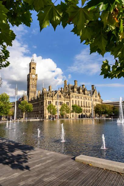 Bradford Town hall stock photo