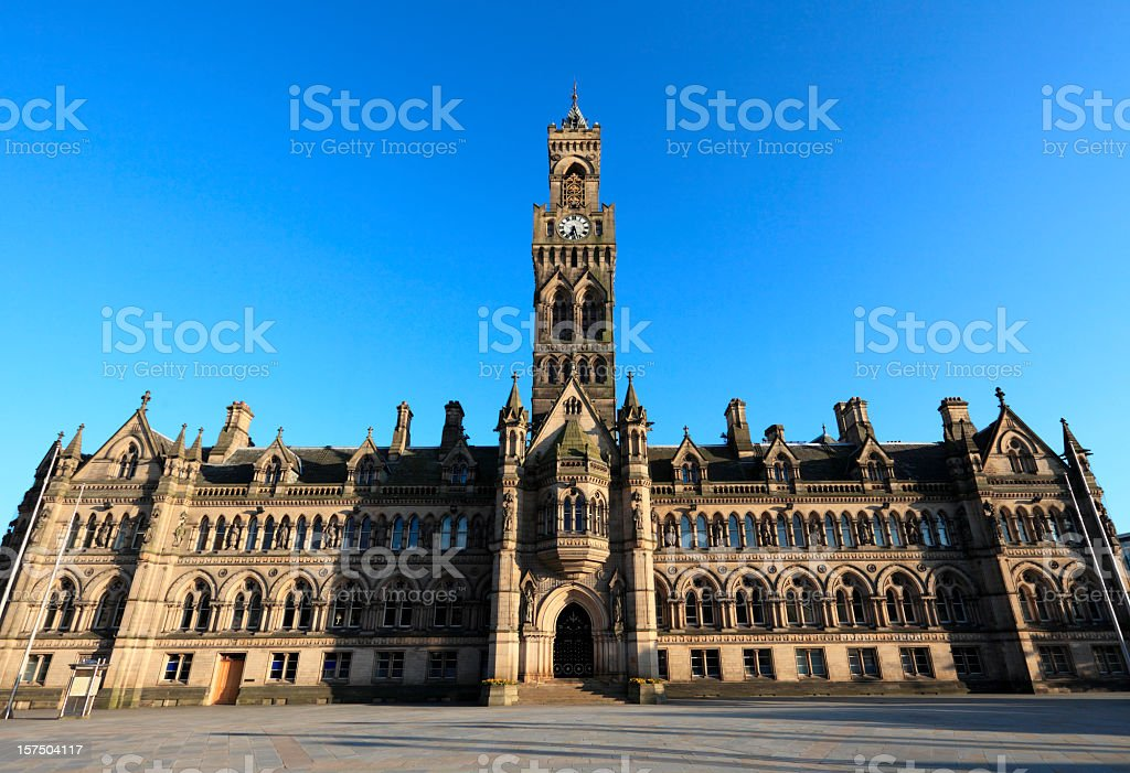 Bradford Town Hall royalty-free stock photo