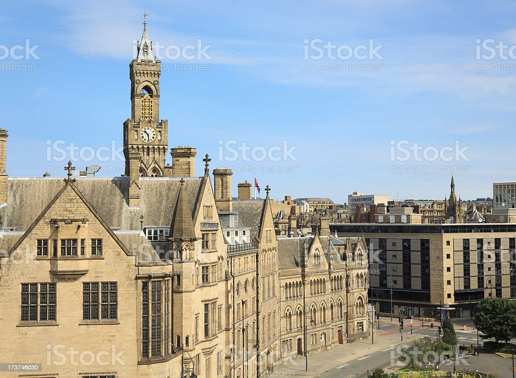 Bradford Town Hall stock photo