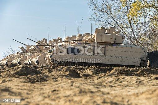 istock M2 Bradley Armored Fighting Vehicle - Stock Image 496412196