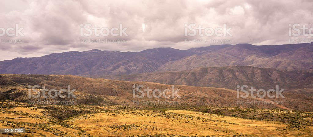 Bradshaw Mountains Panoramic Landcape stock photo