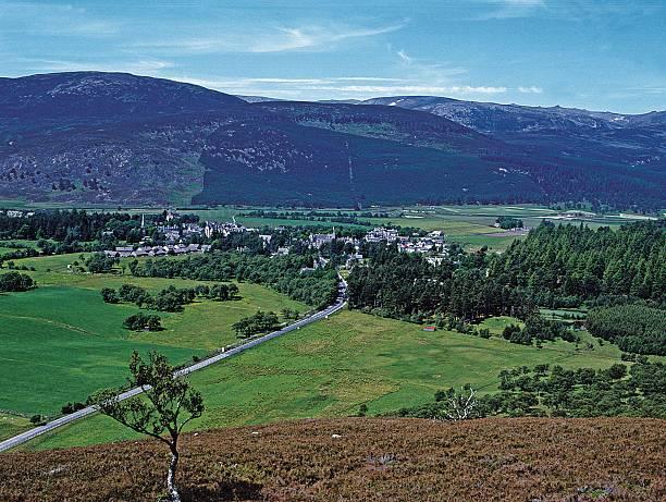 Braemar Village, Aberdeenshire stock photo