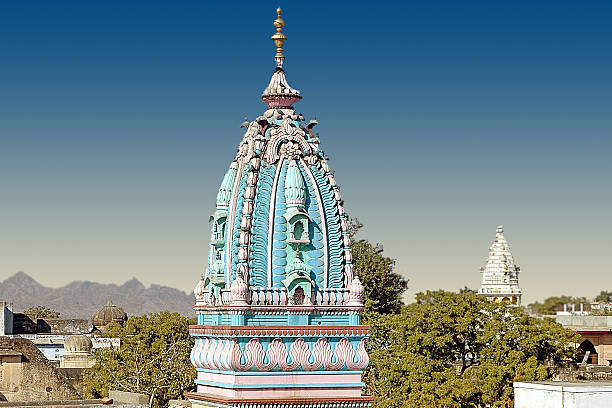 Brahma Hindu Temple in Pushkar stock photo