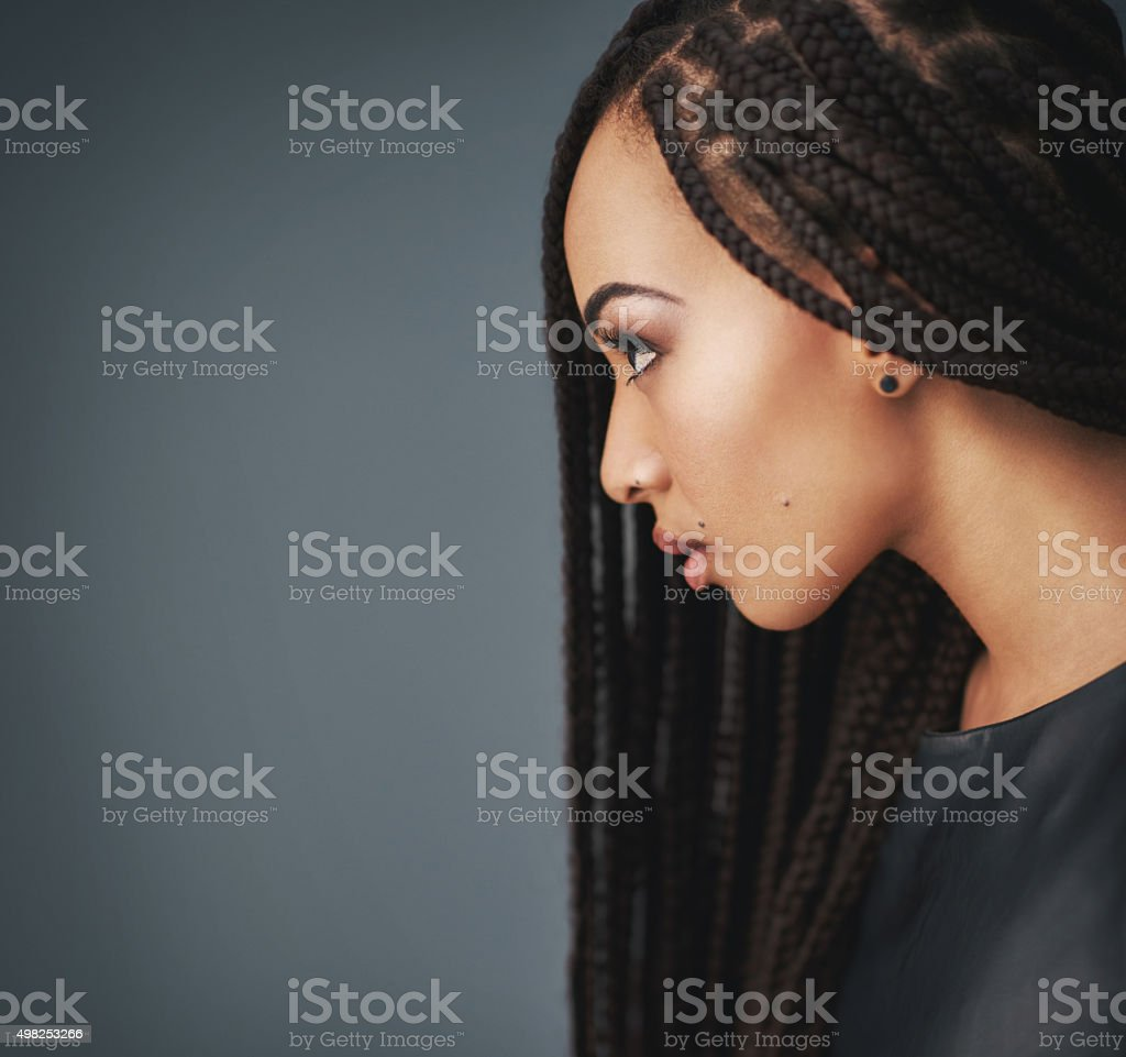 Braided beauty stock photo