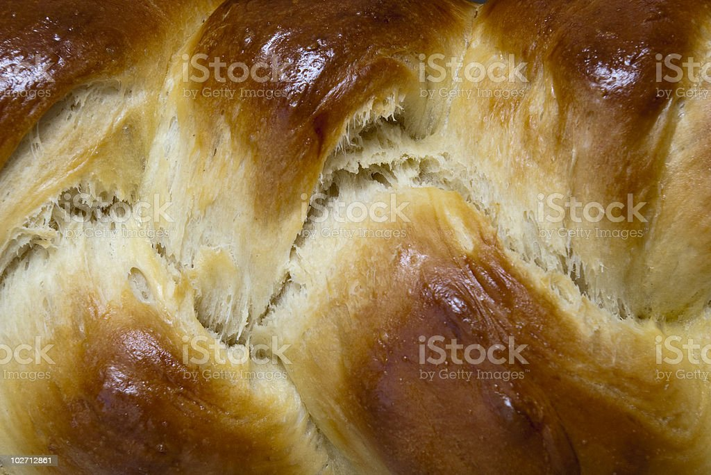 braided bread loaf challah stock photo