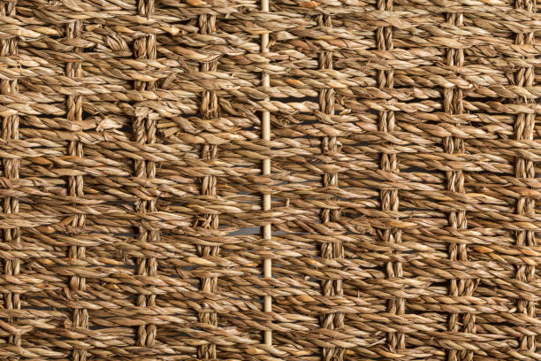 Braided esparto grass ropes used for traditional crafts stock photo