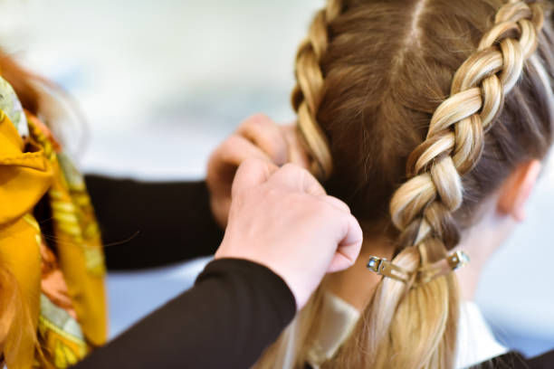 Braided Hair stock photo