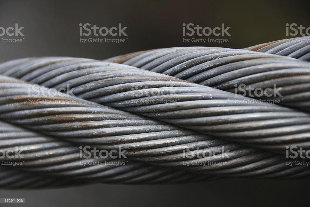 Braided Metal Cable stock photo