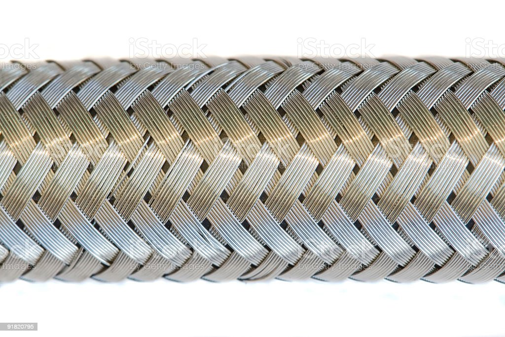 Braided metal hose  Abstract Stock Photo
