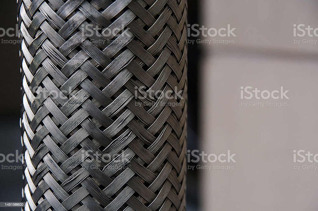 Braided Metal stock photo